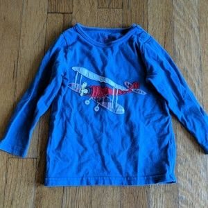 Baby Boden Airplane Applique Top, Size 12-18m